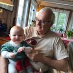 Alva og bestefar